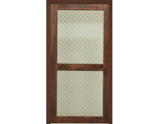 Charmant WM 101. Flush Door With Wood U0026 Wire Mesh ...